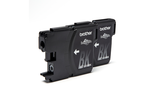 Genuine Brother LC1100BKBP2 Ink Cartridge Twin Pack - Black 2