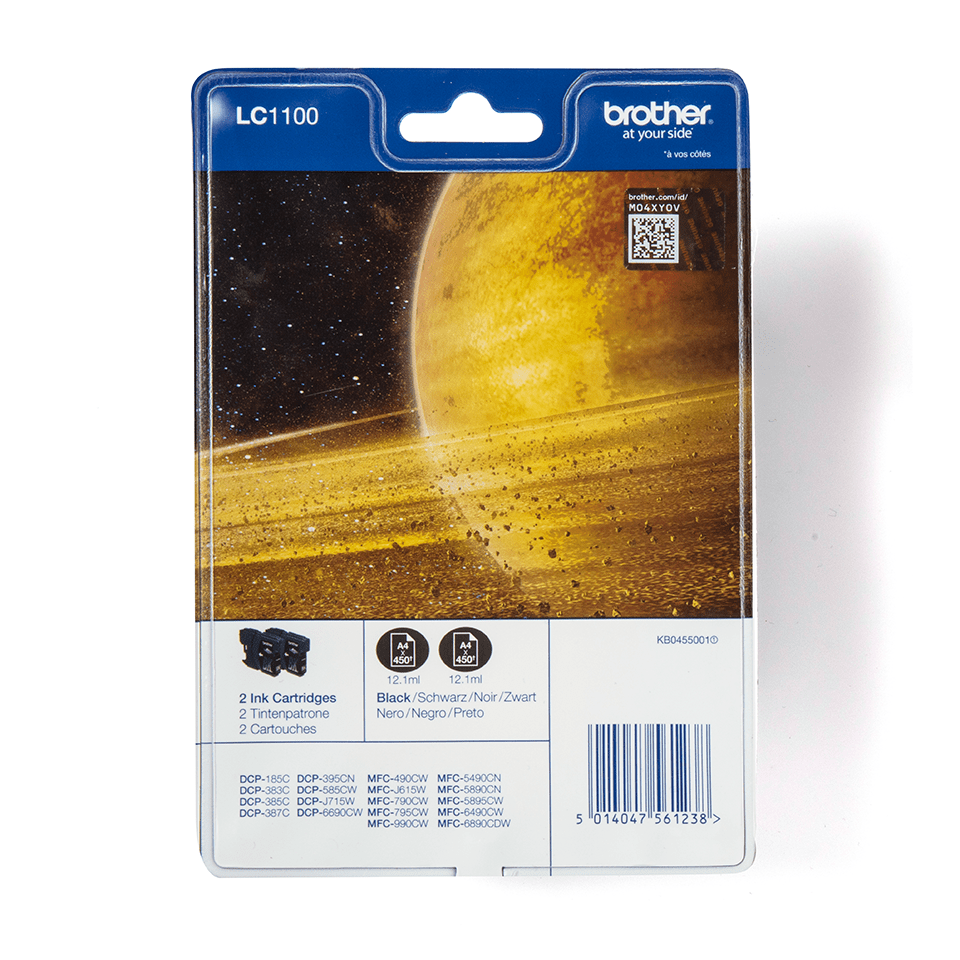 LC1100BKBP2 Brother genuine ink cartridge multi pack front image