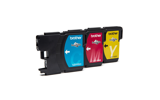 Genuine Brother LC1100RBWBP Ink Cartridge Rainbow Blister Pack 2