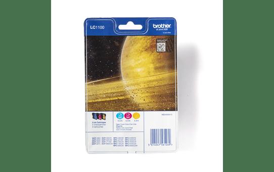 Oryginalny zestaw kolorowych tuszy Brother LC-1100RBWBP