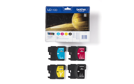 Pack de cartouches d'encre LC1100VALBP Brother originales 3