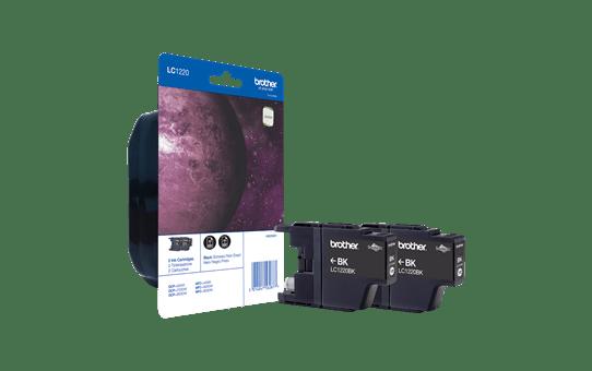 Brother LC1220BKBP2 inktpatronen pack - 2x zwart 2