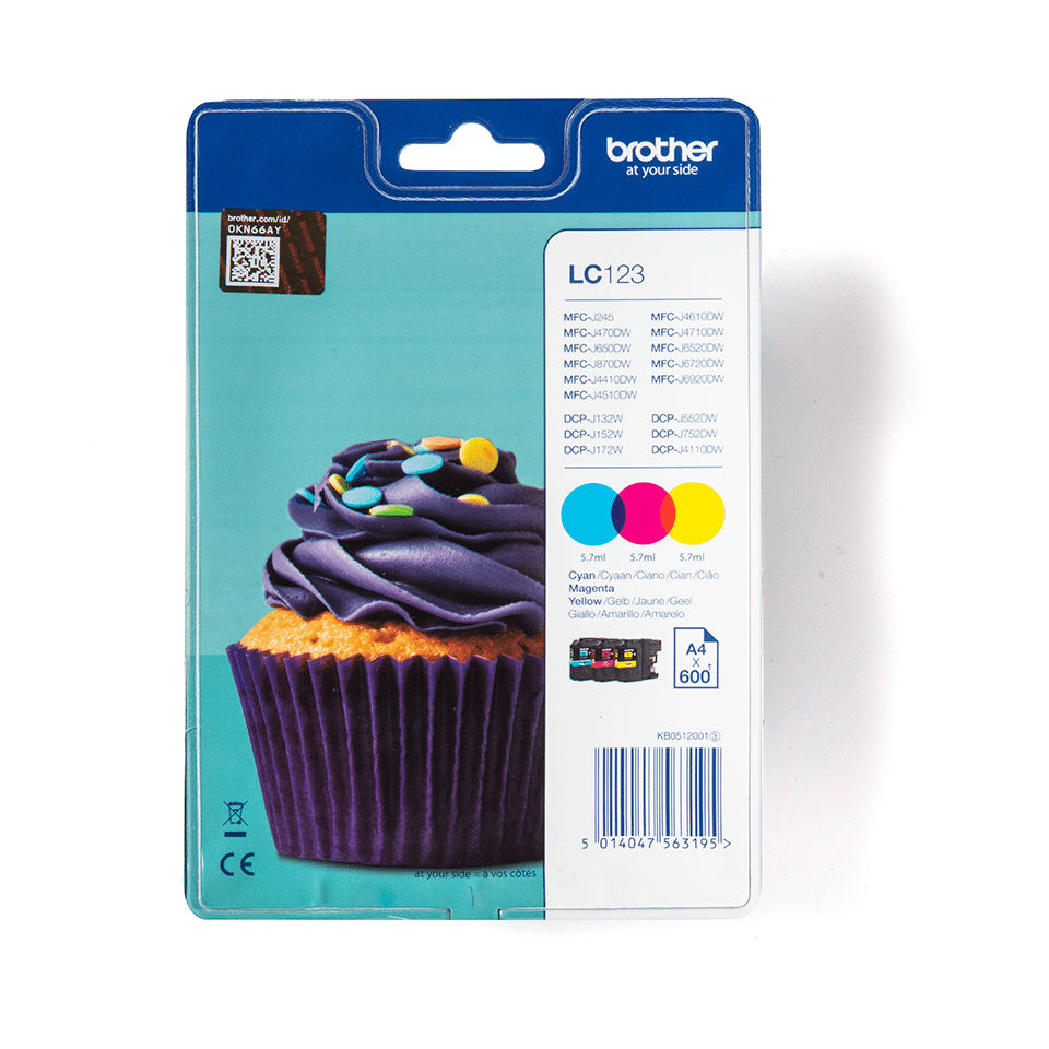 LC123RBWBP Brother genuine ink cartridge multi pack front image