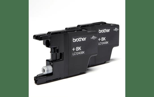 Originele Brother LC-1240BKBP2 zwarte inktcartridge voordeelverpakking met 2 cartridges 2