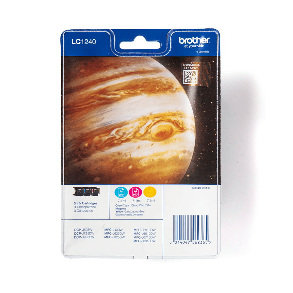 LC1240RBWBP Brother genuine ink cartridge multi pack front image