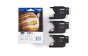 Genuine Brother LC1240RBWBP Ink Cartridge Rainbow Blister Pack 3