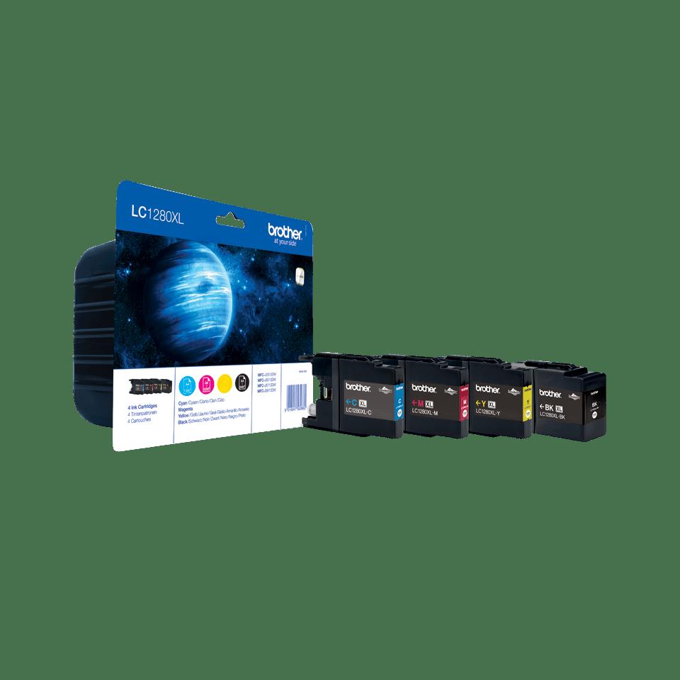Oriģinālā Brother LC1280XLVALBP augsta ražīguma tintes kasetne - iepakojums