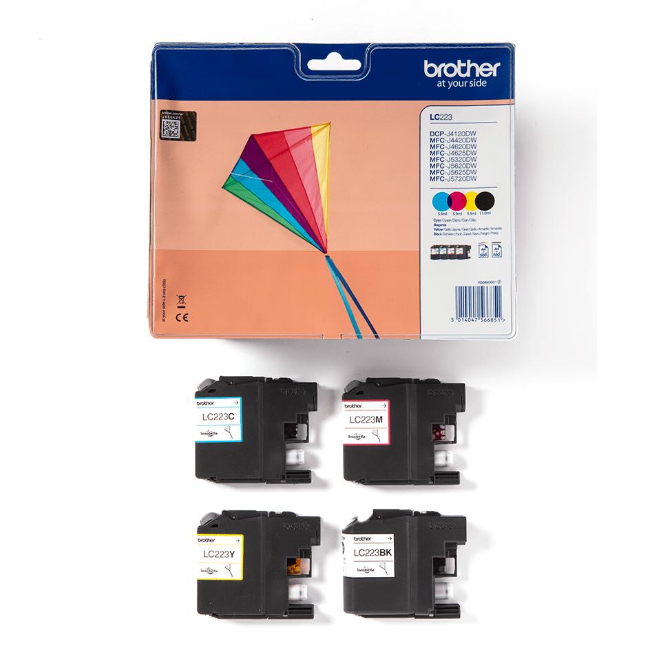 Oriģināla Brother LC223VALBPDR tintes kasetne - iepakojums 3