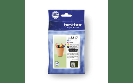 Original Brother LC3217VALDR multipakke blekkpatroner - sort, cyan, magenta og gul 4