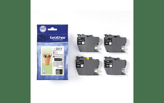 Oriģināls Brother LC3217VALDR tintes kasetņu iepakojums - melnas, ciāna, fuksīna un dzeltenas krāsas 2