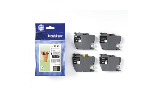 Genuine Brother LC3217VALBP ink cartridge value pack - black, cyan, magenta and yellow 2