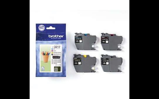Originele Brother LC-3217VAL voordeelverpakking met inktcartridges zwart, cyaan, magenta en geel 2