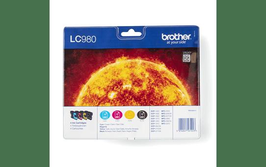 Brother LC980VALBP inktpatronen pack - cyaan, magenta, geel en zwart