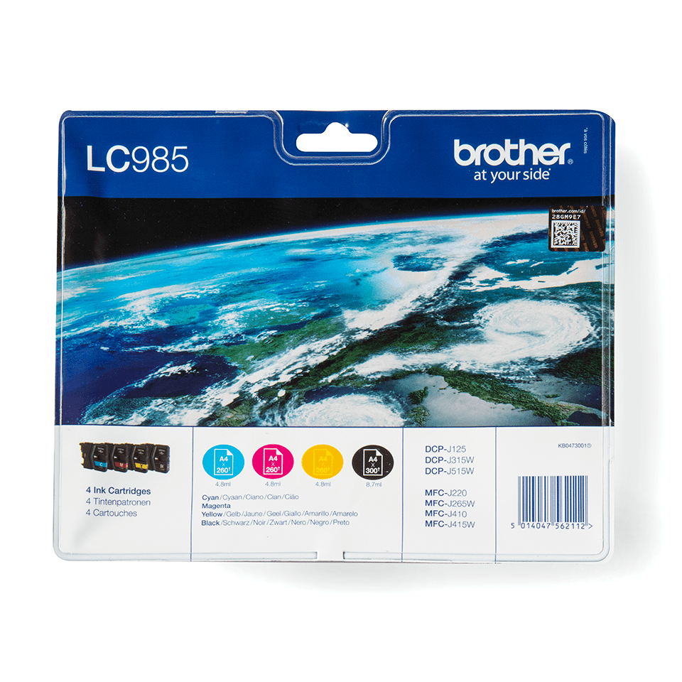 LC985VALBP Brother genuine ink cartridge multi pack front image