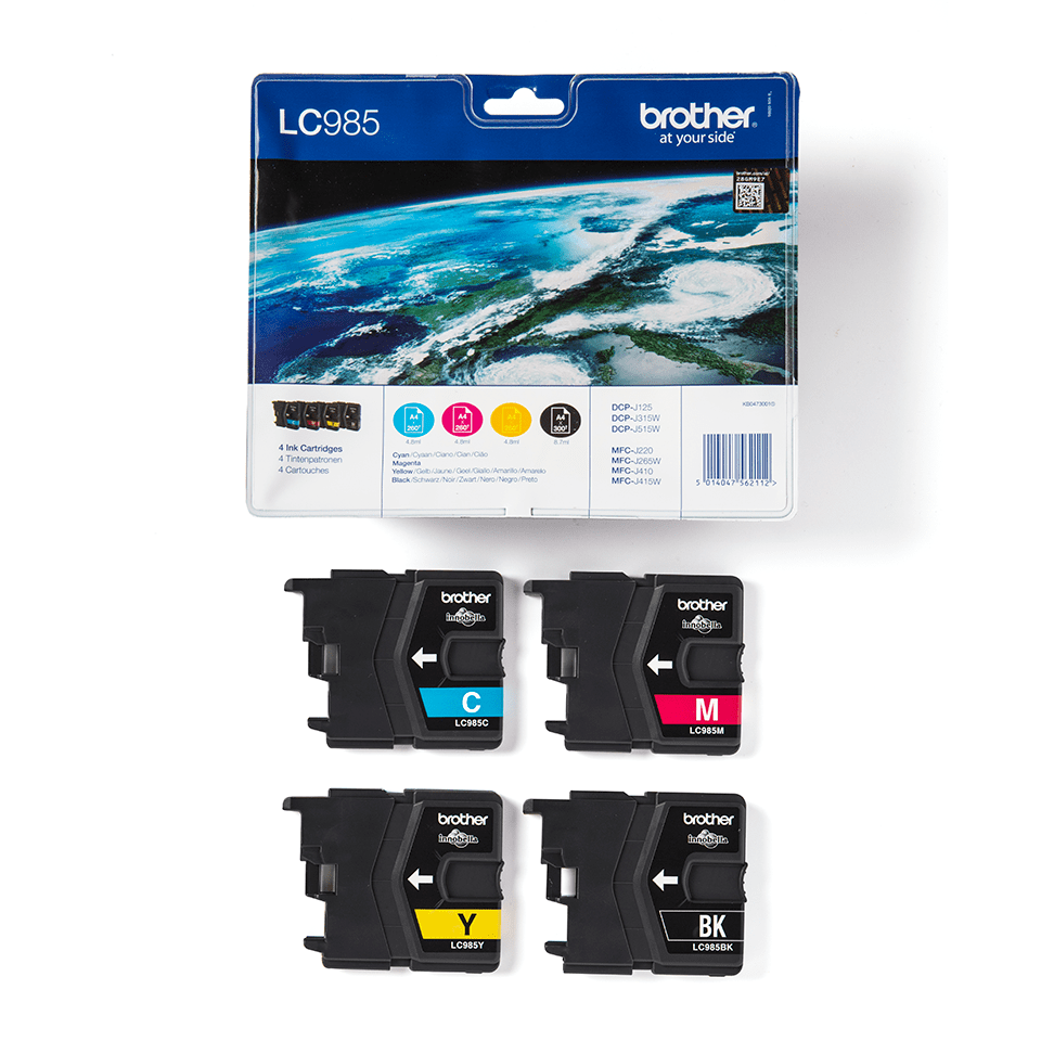 Genuine Brother LC985VALBP Ink Cartridge Multipack  3