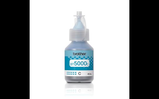 Brother BT5000С: оригинальная бутылочка с голубыми чернилами.
