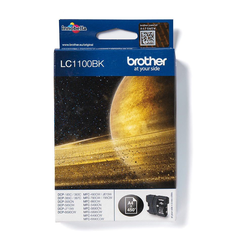 LC1100BK Brother genuine ink cartridge pack front image