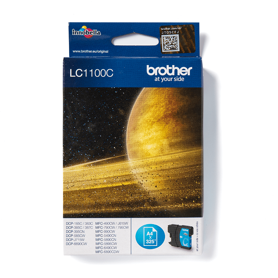 LC1100C Brother genuine ink cartridge pack front image