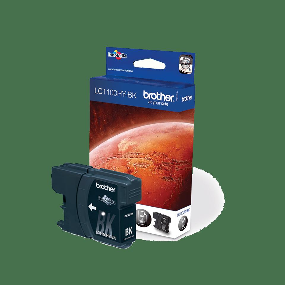 Originele Brother LC-1100HYBK zwarte inktcartridge met hoge capaciteit 2