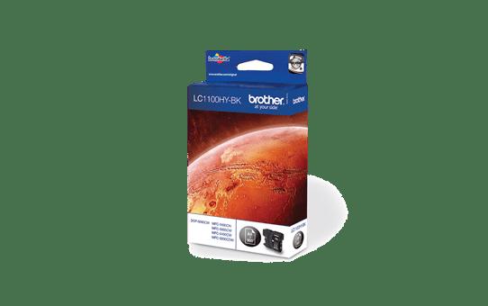 Brother LC1100HYBK: оригинальный картридж повышенной емкости с черными чернилами для заправки встроенного контейнера. 2