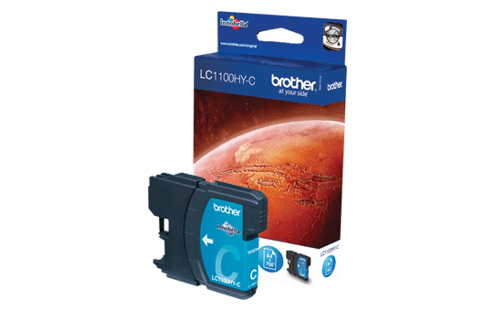 Brother LC1100HYC inktpatroon cyaan 2