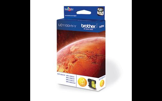 Original Brother LC1100HYY høykapasitet blekkpatron – gul 2