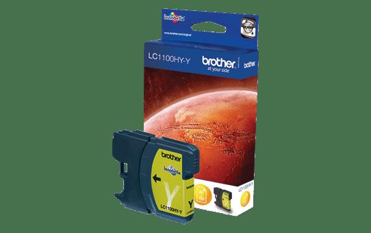 Original Brother LC1100HYY høykapasitet blekkpatron – gul