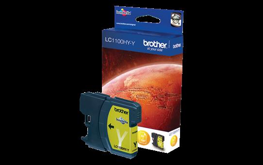 Brother LC1100HYY: оригинальная бутылка ультравысокой емкости с желтыми чернилами  для заправки встроенного контейнера.