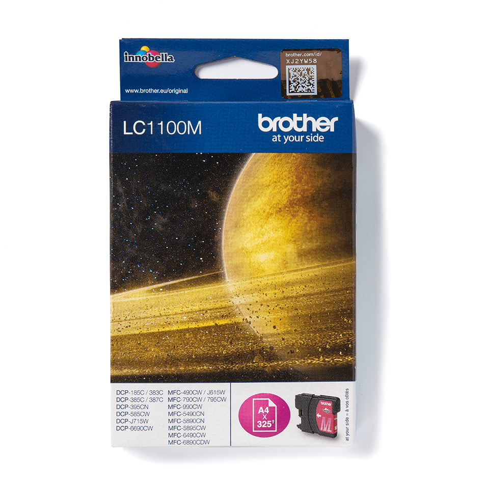 LC1100M Brother genuine ink cartridge pack front image