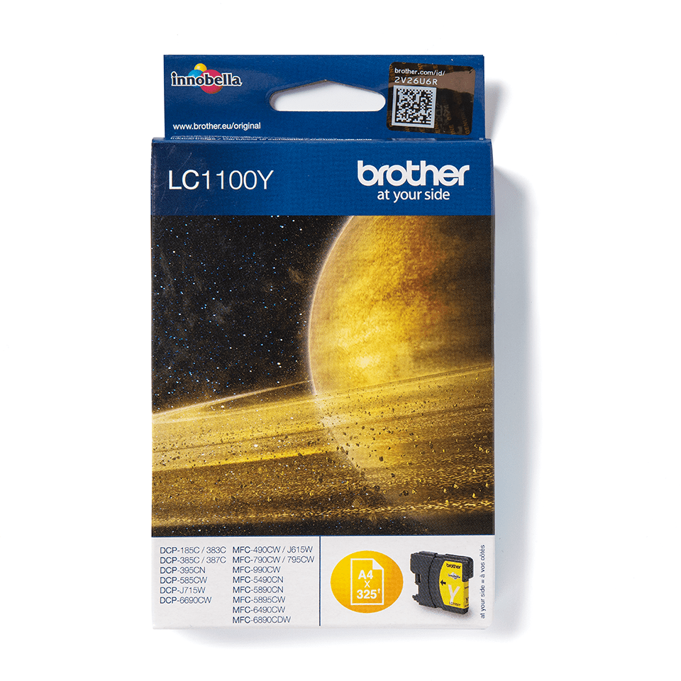 LC1100Y Brother genuine ink cartridge pack front image