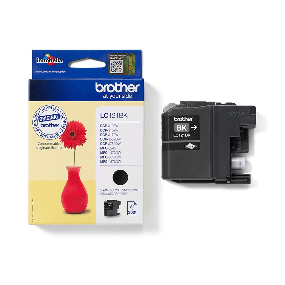 Genuine Brother LC121BK Ink Cartridge – Black 2