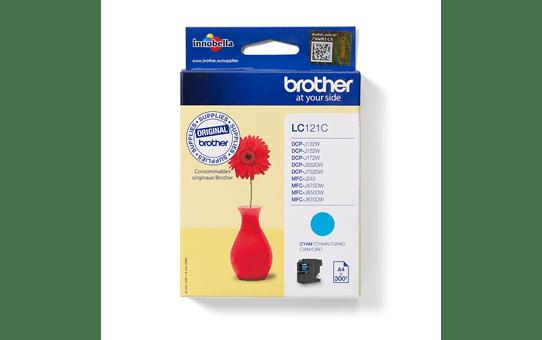 Oriģinālā Brother LC121C tintes kasetne - ciāna krāsa