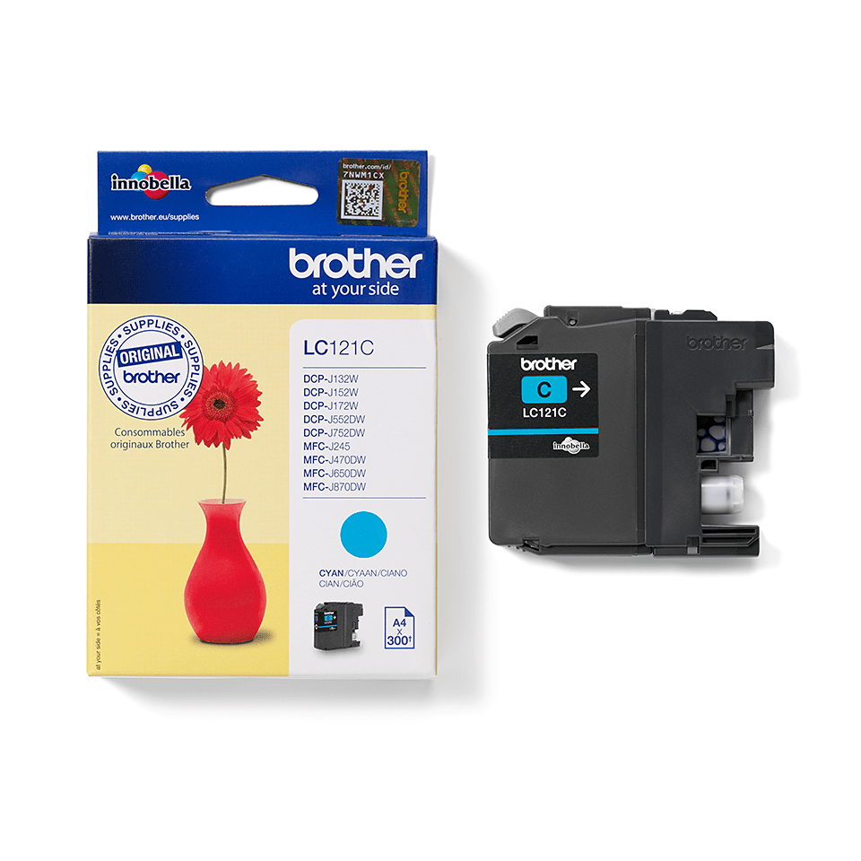 Genuine Brother LC121C Ink Cartridge – Cyan 2