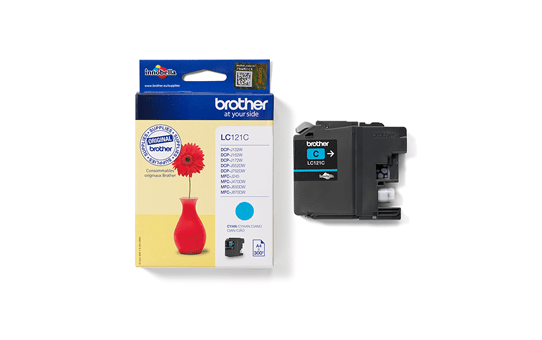 Genuine Brother LC121C Ink Cartridge – Cyan 3