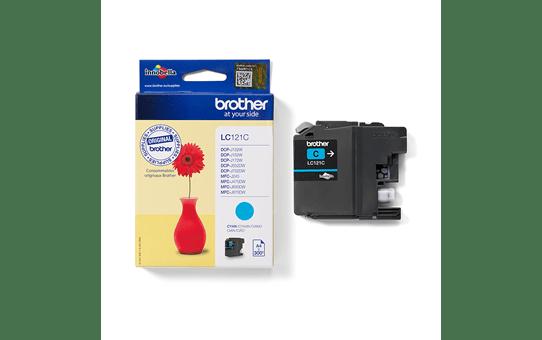 Oriģinālā Brother LC121C tintes kasetne - ciāna krāsa 3