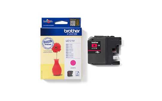 Brother LC121M cartouche d'encre magenta 2