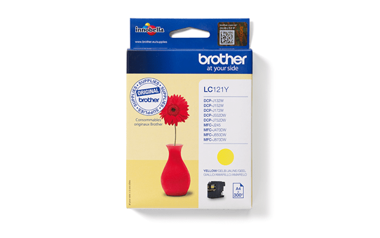 Brother LC121Y cartouche d'encre jaune