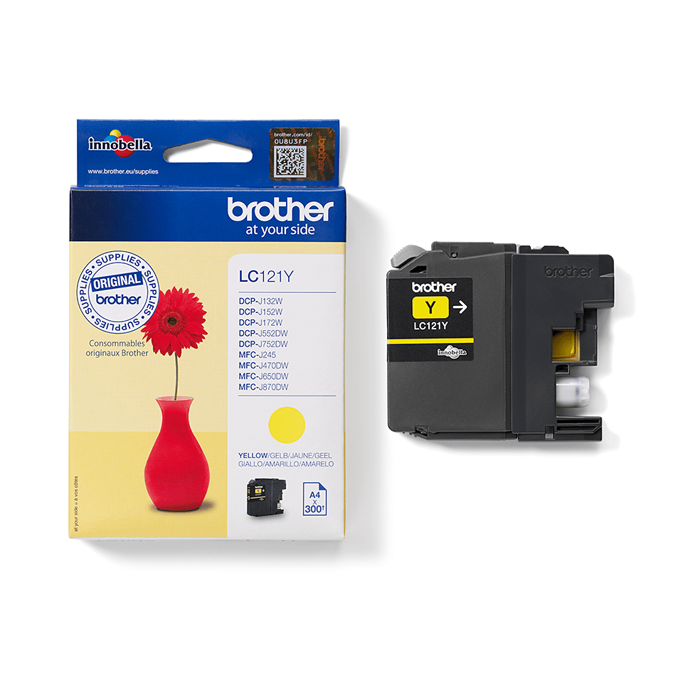 Genuine Brother LC121Y Ink Cartridge – Yellow