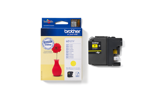 Oriģinālā Brother LC121Y tintes kasetne - dzeltena krāsa 3