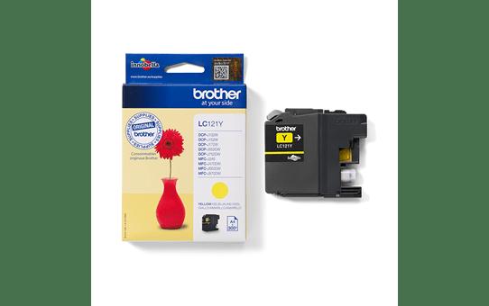 Originální inkoustová kazeta Brother LC121Y – žlutá 3