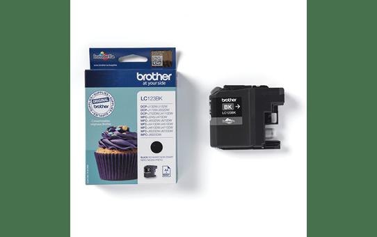Brother LC563BK: оригинальный картридж с черными чернилами для заправки встроенного контейнера. 2