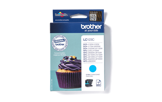 Genuine Brother LC123C Ink Cartridge – Cyan