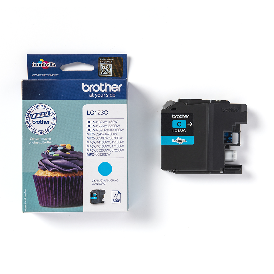 Brother LC123C cartouche d'encre cyan 3