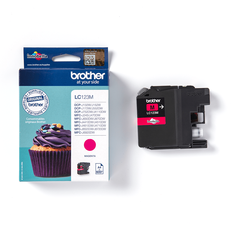 Genuine Brother LC123M Ink Cartridge – Magenta 3