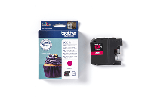 Brother LC123M cartouche d'encre magenta 3