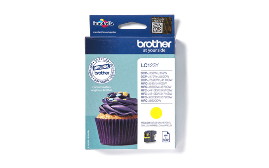 Originele Brother LC-123Y gele inktcartridge