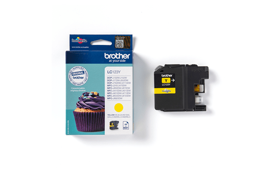 Genuine Brother LC123Y Ink Cartridge – Yellow 3