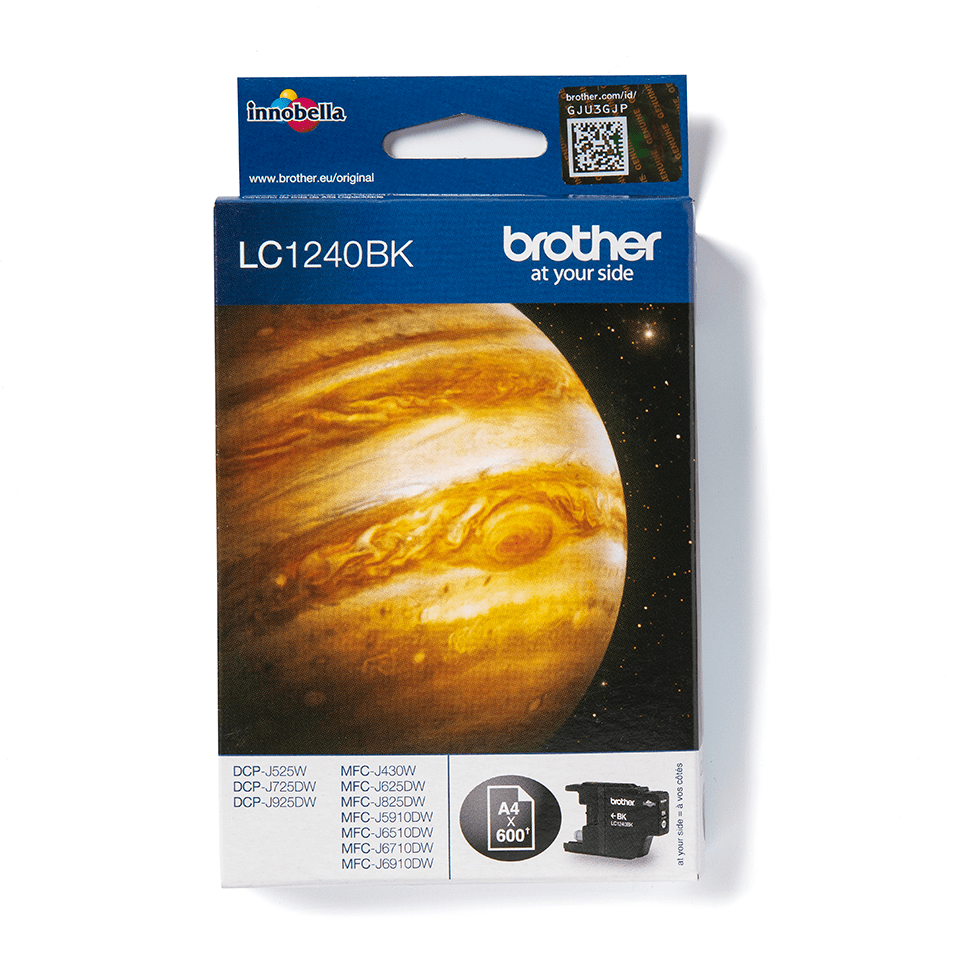 LC1240BK Brother genuine ink cartridge pack front image