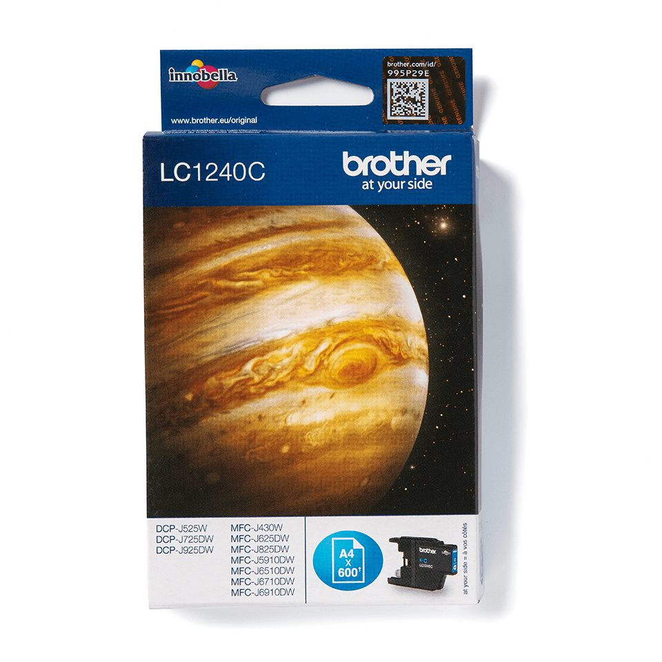 LC1240C Brother genuine ink cartridge pack front image