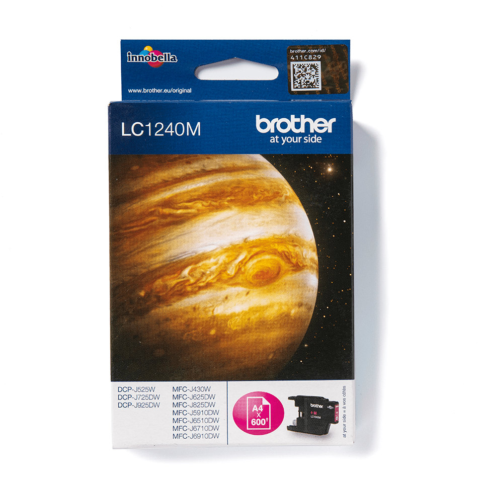 LC1240M Brother genuine ink cartridge and pack image